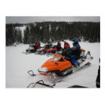 Snowmobile Group Ride Post Card