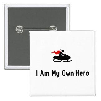 Snowmobile Hero Pinback Button