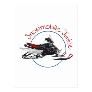 Snowmobile Junkie Postcard