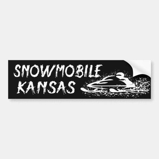 Snowmobile Kansas Etiqueta De Parachoque