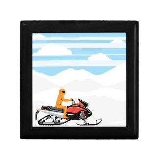 Snowmobile landscape keepsake box