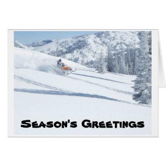 snowmobile, los saludos de la estación tarjeta pequeña