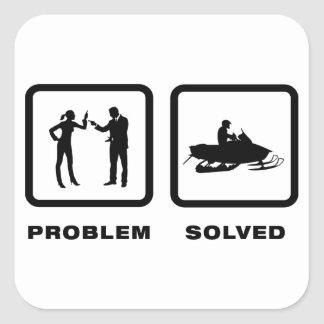 Snowmobile Lover Square Sticker