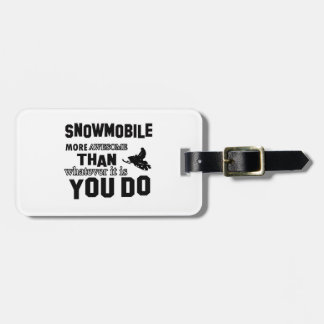 snowmobile más impresionante etiquetas maletas