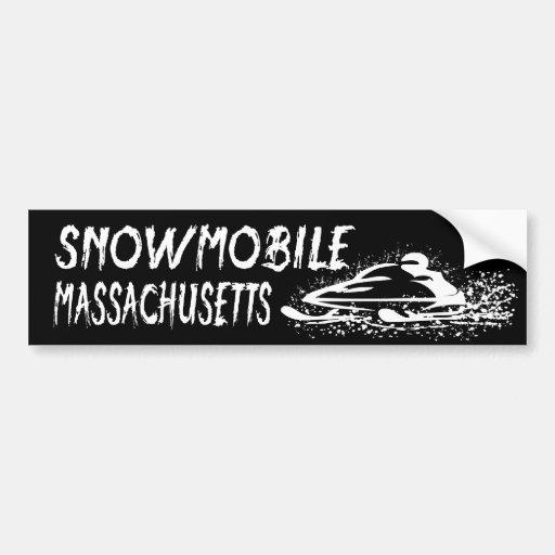 Snowmobile Massachusetts Pegatina De Parachoque