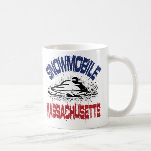 Snowmobile Massachusetts Taza Básica Blanca