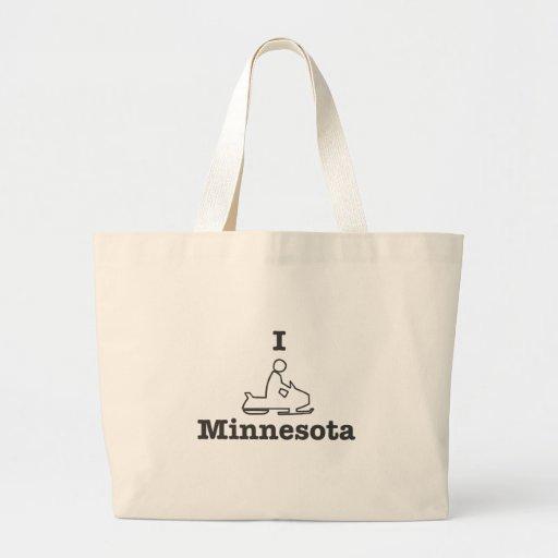 Snowmobile Minnesota Bolsa Tela Grande