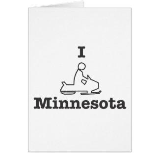Snowmobile Minnesota Tarjeta De Felicitación