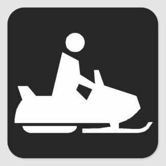 Snowmobile Pegatinas Cuadradas
