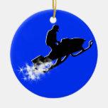 snowmobile : powder trail christmas ornament