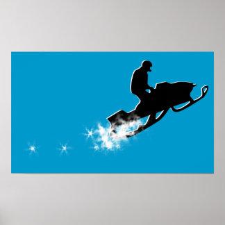 snowmobile. powder trail. posters