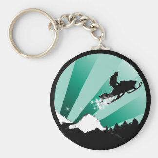 snowmobile. pthalo. circle. keychain