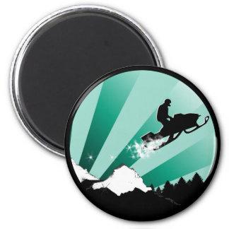 snowmobile. pthalo. circle. magnet