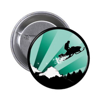 snowmobile. pthalo. circle. pinback button