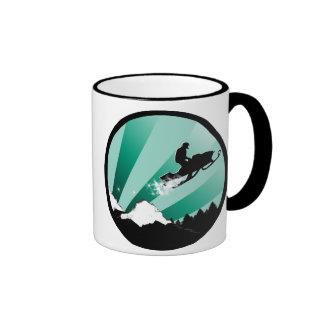 snowmobile. pthalo. circle. ringer coffee mug