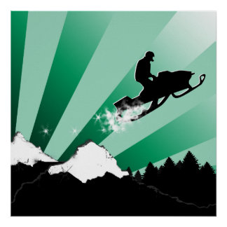 snowmobile. pthalo. poster