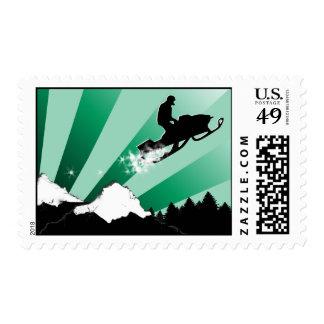 snowmobile. pthalo. sellos postales