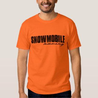 Snowmobile que compite con la camiseta remera