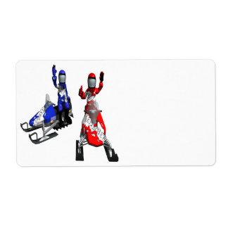 Snowmobile Race Label