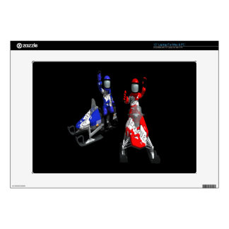 Snowmobile Race Decals For Laptops