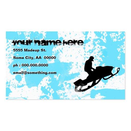 snowmobile: rastro del polvo: tarjetas de visita