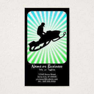 snowmobile retro rays business card