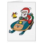 Snowmobile Santa Greeting Card