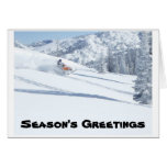 snowmobile, Season's Greetings Stationery Note Card