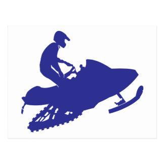 Snowmobile/Sledder Tarjeta Postal