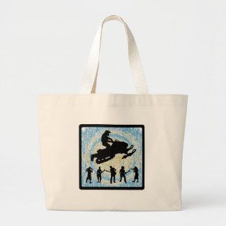 SNOWMOBILE SOUND WAVES CANVAS BAGS