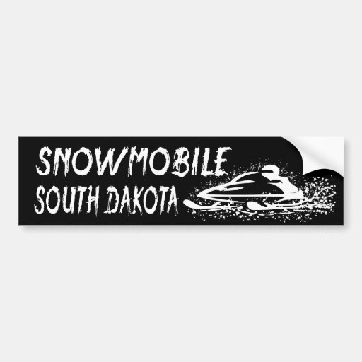 Snowmobile South Dakota Car Bumper Sticker