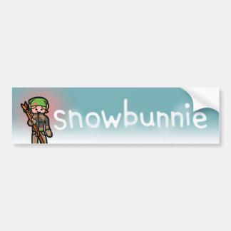 snowmobile sticky sticky. bumper sticker