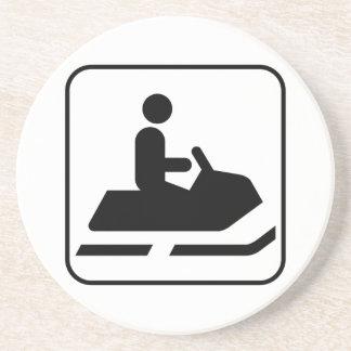 Snowmobile Symbol Coaster