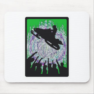 SNOWMOBILE THE AURORA MOUSE PAD