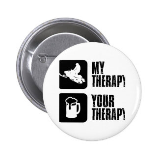 snowmobile therapy designs pinback button