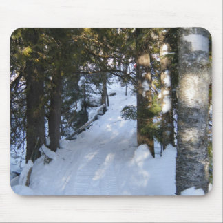 Snowmobile Trail Mouse Pad
