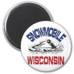 Snowmobile Wisconsin Imán De Frigorífico