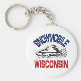 Snowmobile Wisconsin Keychain