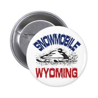 Snowmobile Wyoming Pinback Button