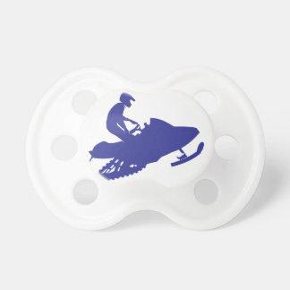 Snowmobiler azul fresco chupetes de bebé
