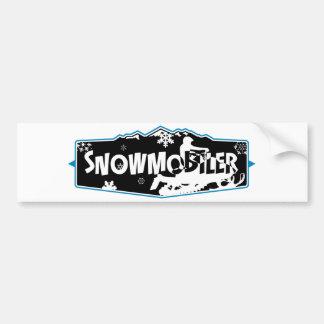 SNowmobiler Bumper Sticker
