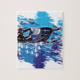 Snowmobiler fresco puzzle con fotos