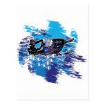 Snowmobiler gráfico postal
