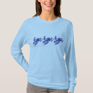 Snowmobiler in Blue - Camoflage T-Shirt