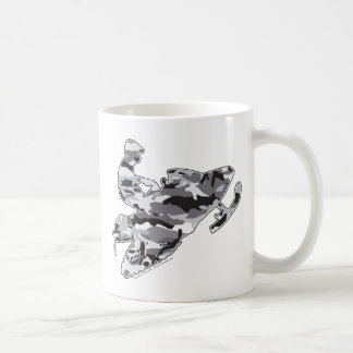 Snowmobiler in Grey Camo Coffee Mug