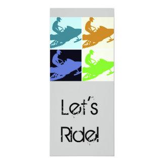 Snowmobiler/Let's Ride! Custom Invite