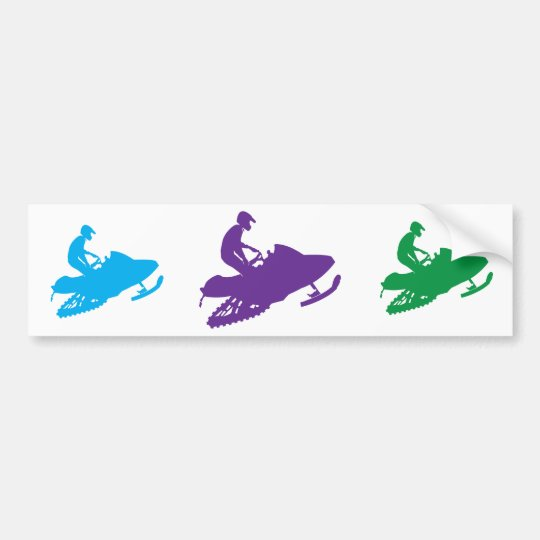 Snowmobiler/Purple Sled Bumper Sticker