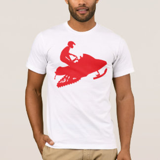 Snowmobiler/Red Sled T-Shirt