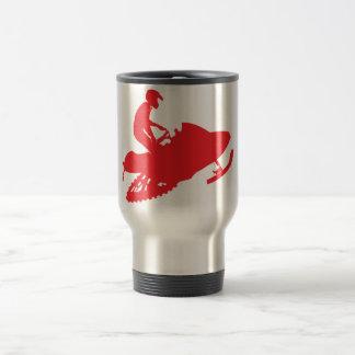 Snowmobiler/Red Sled Travel Mug