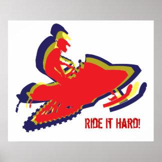 Snowmobiler/ Ride it Hard! Poster